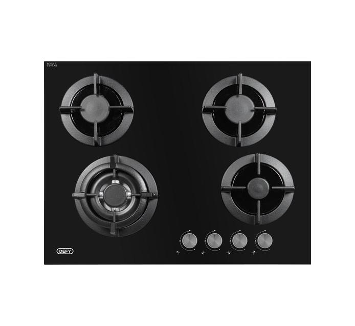 DEFY 700 mm 4 Burner Gas on Glass hob
