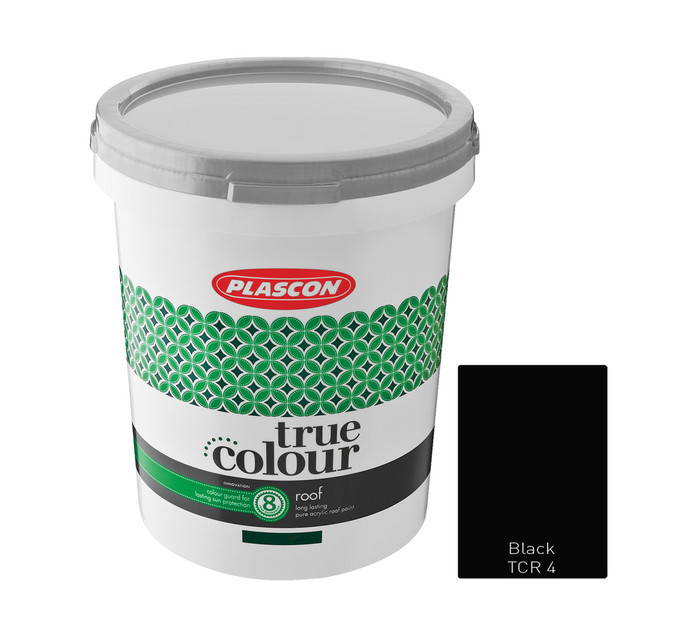 PLASCON 5 l True Colour Roof Black