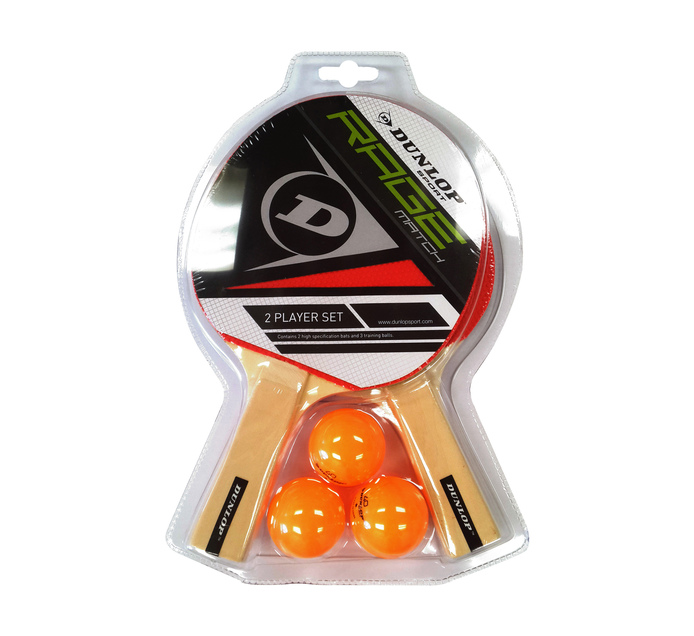 DUNLOP 2 Player Rage Match Table Tennis Set