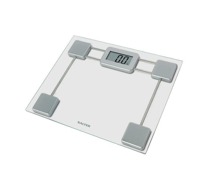 Salter Compact Glass Digital Bathroom Scale (Silver)