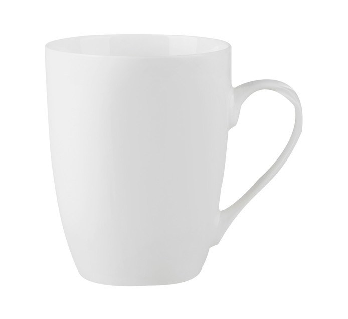 BASIC WHITE 350 ml Classic Shape Coffee Mugs 6-Pack