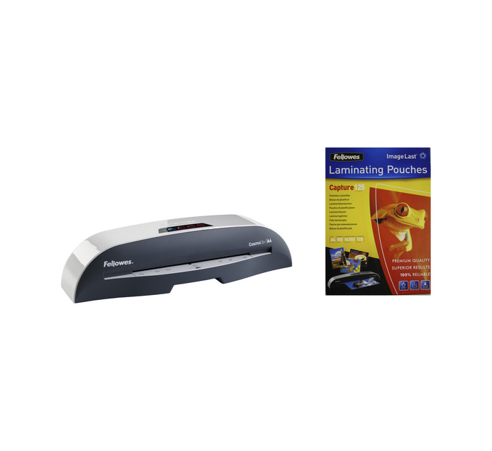 FELLOWES Cosmic 2 A4 Laminator Bundle