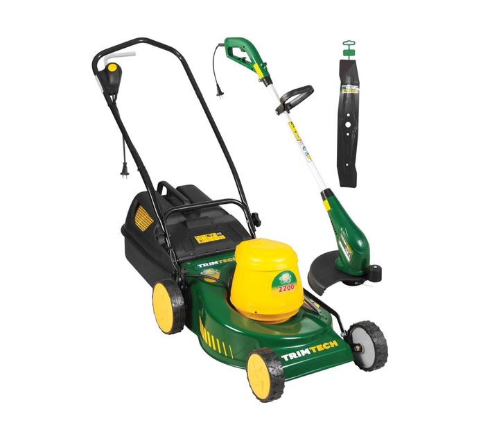 TRIMTECH 2200 W Electric Lawnmower plus 650 W Trimmer Bundle