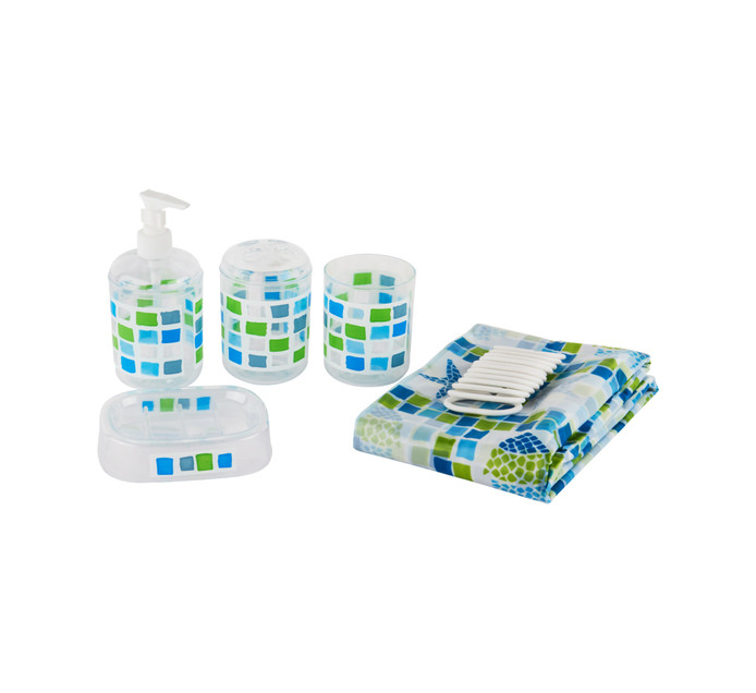 DEJAY Shower Curtain and accessory set