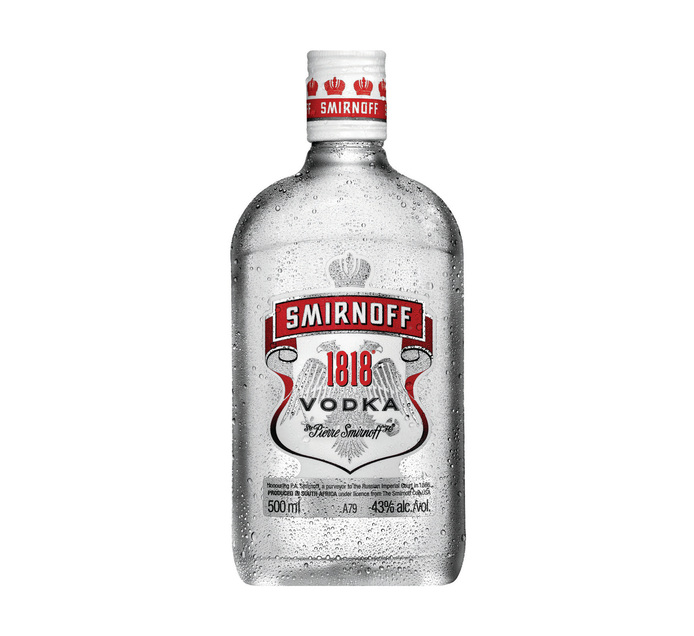SMIRNOFF 1818 Vodka (12 x 500ml)
