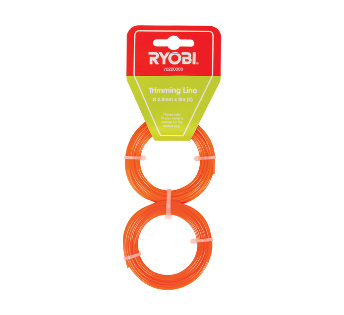 RYOBI 2.0 mm x 8 m Trimmer Line Round 2 Pack