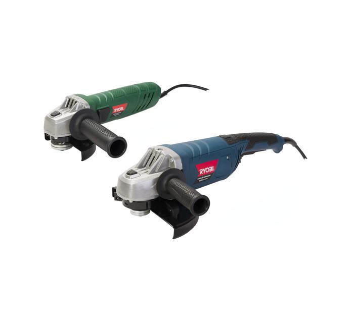 RYOBI 230 mm and 115 mm Angle Grinder Kit
