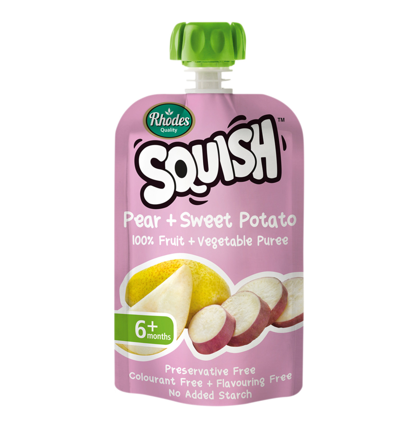 Rhodes Squish Infant Food Pear and Sweet Potato (1 x 110g)