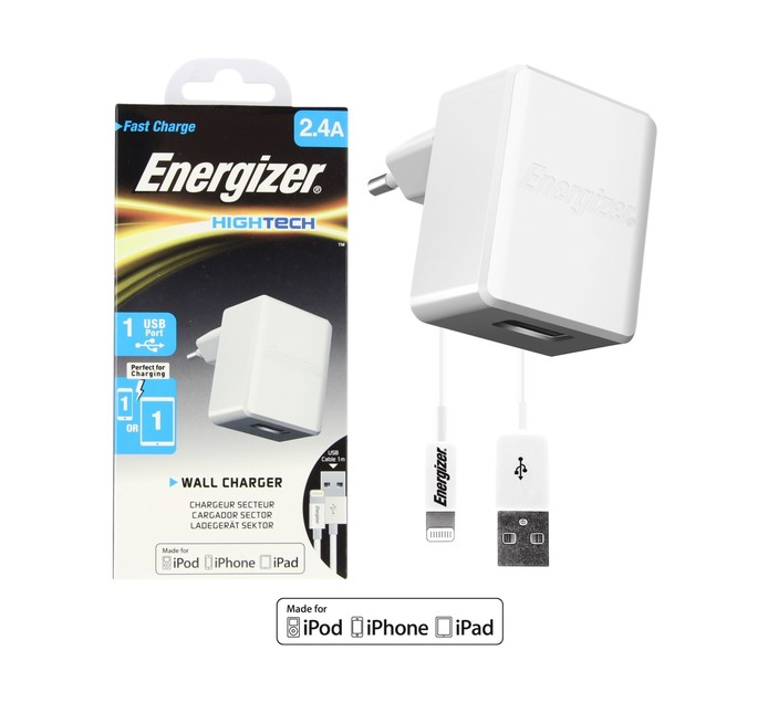 ENERGIZER 2.4 A Energizer Lightning Wall Charger White