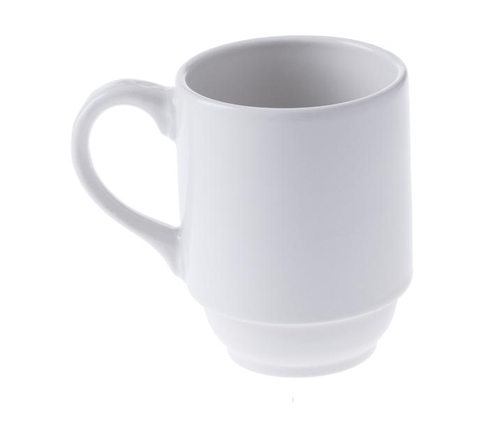 CONTINENTAL CROCKERY 6 pack Blanco Stacking Mug
