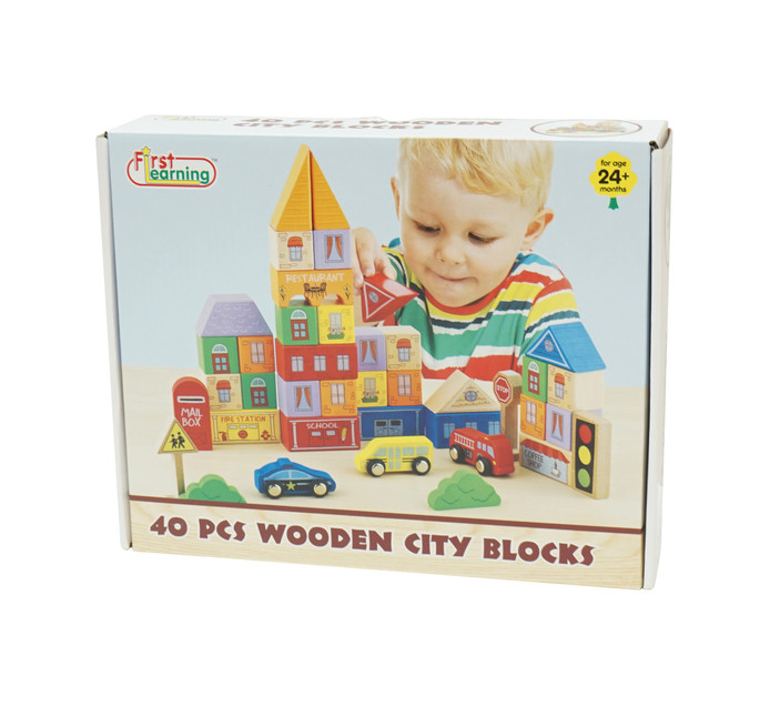 40piece First Learning Wooden City Blocks