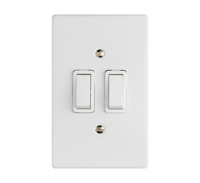 CRABTREE CLASSIC 2LEVER 1WAY SWITCH