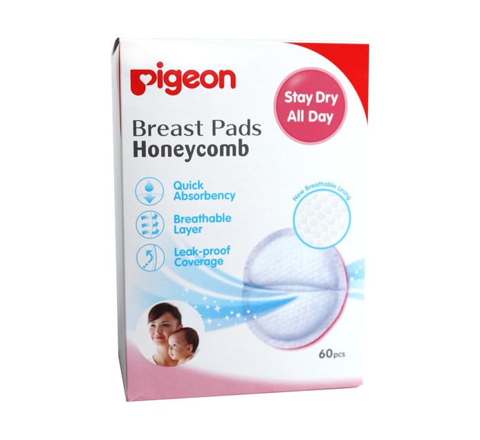 PIGEON Honeycomb Breast Pads (1 x 60's)