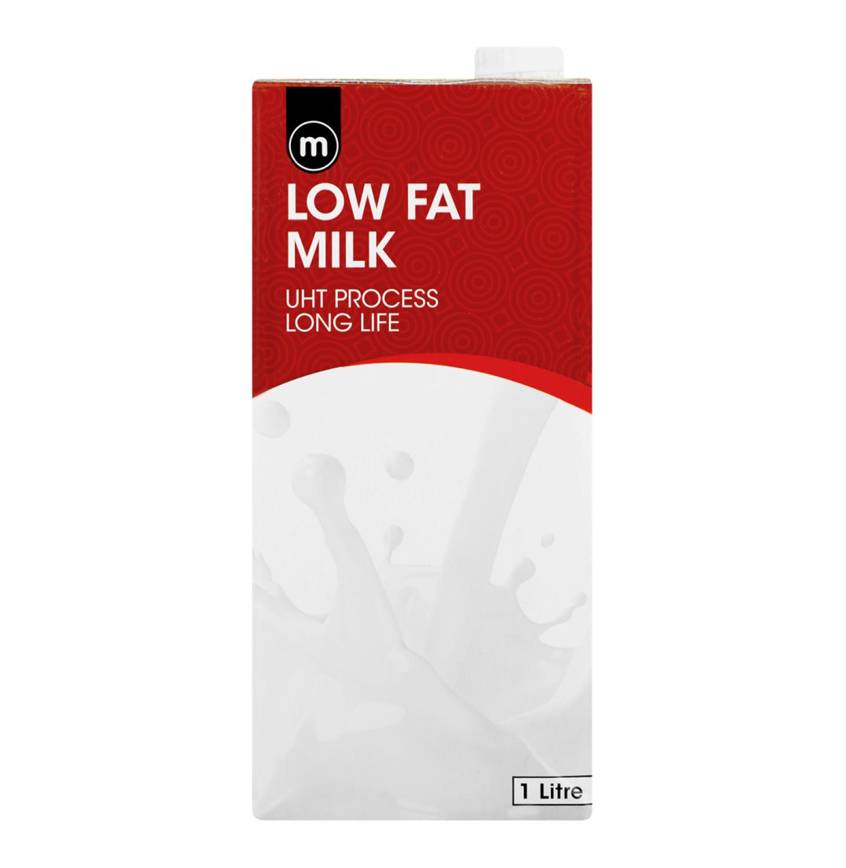 M Long Life Milk Low Fat (6 x 1l)