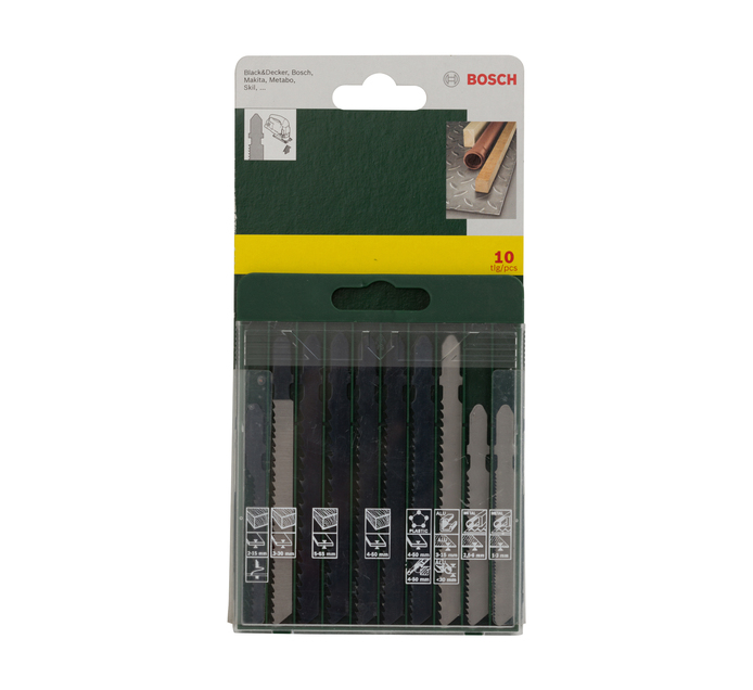 BOSCH 10 PC Jig Saw Blades