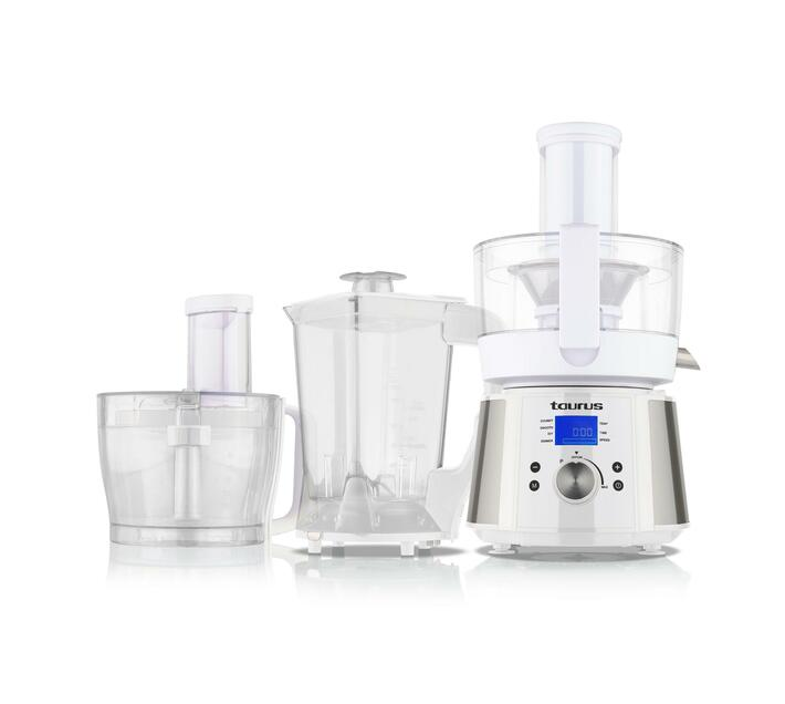 "TAURUS Food Processor LCD Display Stainless Steel Brushed 2.4l 800W ""Processador De Cuinar"""