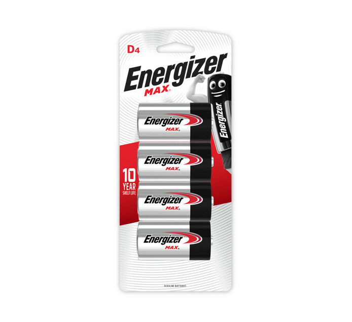 ENERGIZER Max Alkaline D Batteries 4-Pack