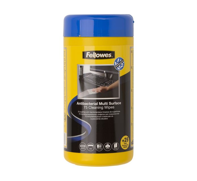FELLOWES Virashield Surface Wipes 75's