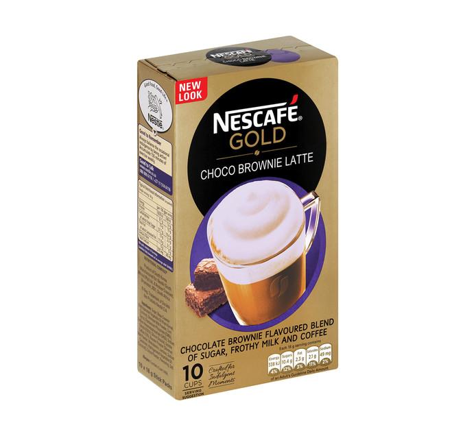 NESCAFE GOLD Chocolate Coffee Brownie Latte (1 x 180g)