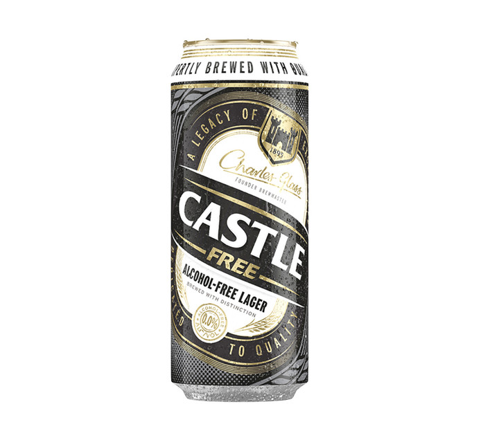 CASTLE Alcohol Free Lager Can (24 x 500ml)