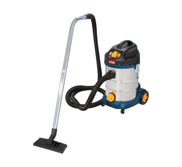 RYOBI 1600w 30L Workshop Vacuum Cleaner Wet and Dry