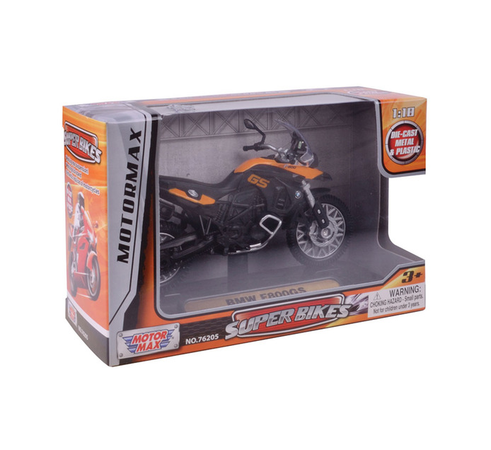 MOTORMAX 1:18 Scale Motorcycles With Platform