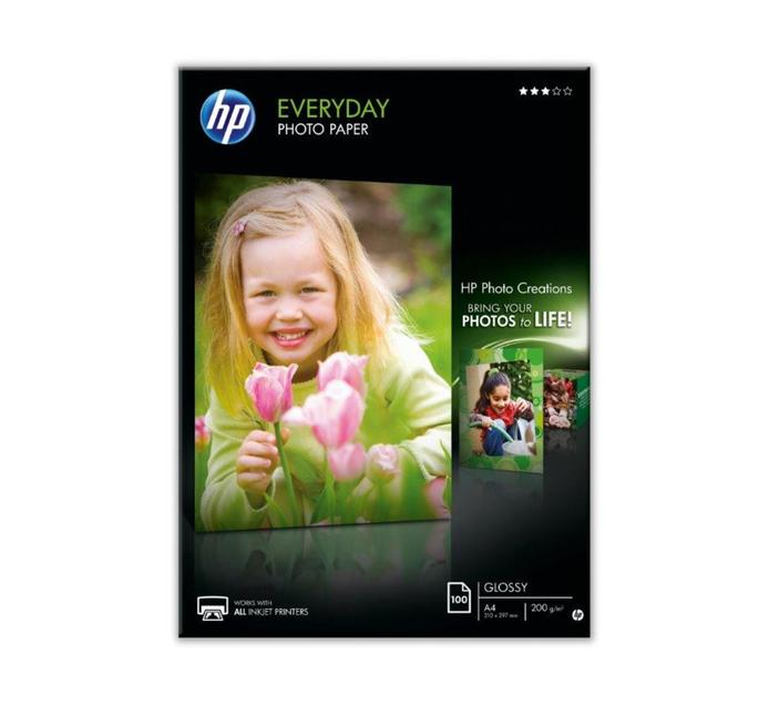 HP A4 Gloss Photo Paper 100 Sheets