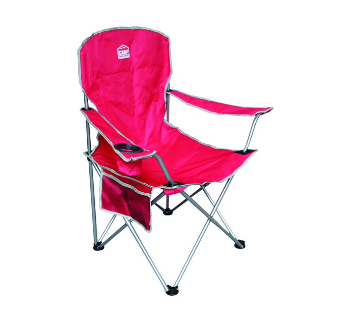 CAMPMASTER Oversize Arm Chair Red And Silver