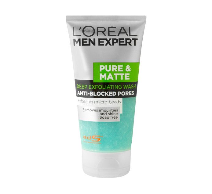 L'OREAL Men Expert Exfollating Pure & Matte (1 x 150ml)