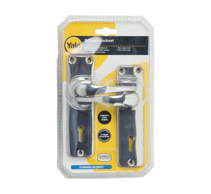 YALE 2 Lever Lockset Zinc Handle