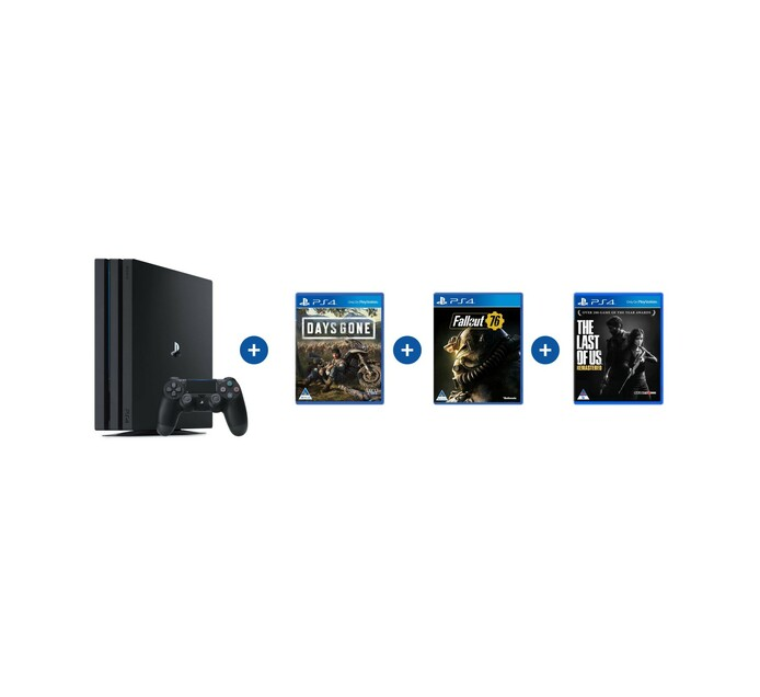 PS4 PRO 1TB+DAYS GONE+FALLOUT 76+TLOU