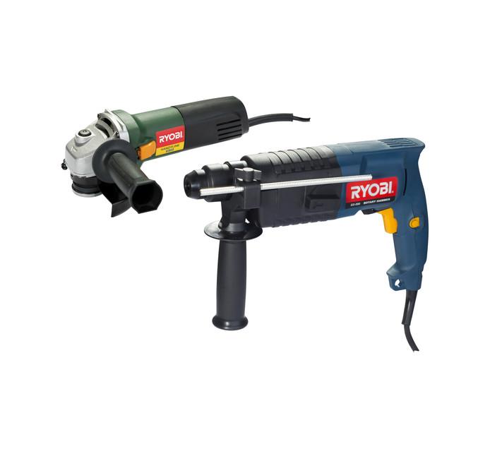 RYOBI 500 W Rotary  Drill and 115MM Grinder Kit