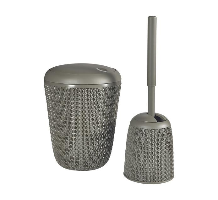 CURVER Bathroom Bin and Toilet Brush Set