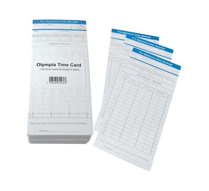 OLYMPIA Time Cards