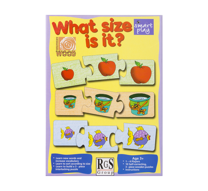 WHAT IS THE SIZE EDUCATIONAL GAME
