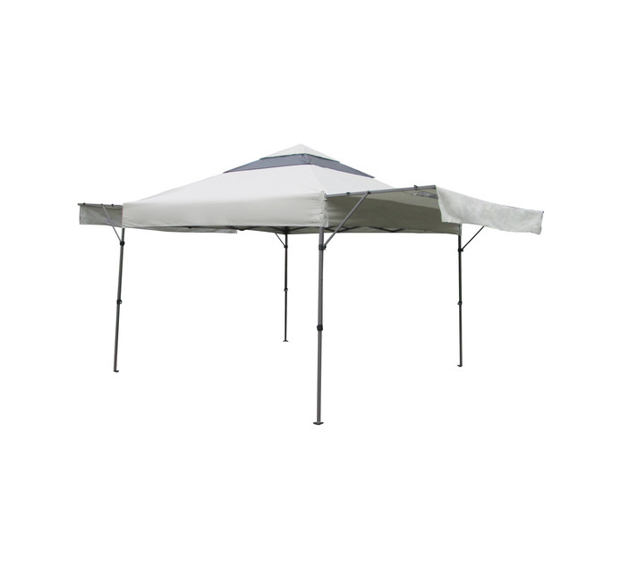 TERRACE LEISURE Deluxe Gazebo with Double Sided Awning