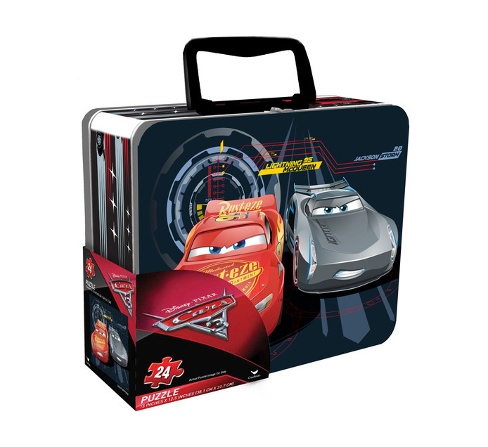 DISNEY Cars Puzzle in Lunch Tin