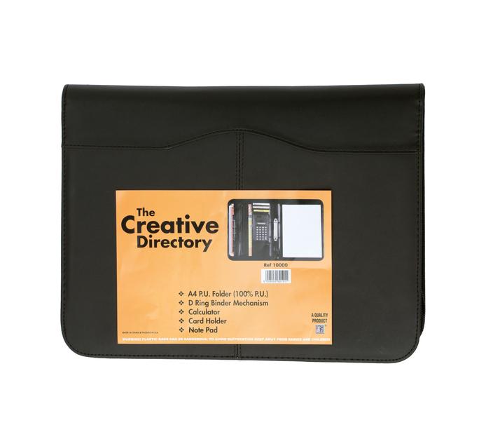 FILES A4 Executive Folder Black Each