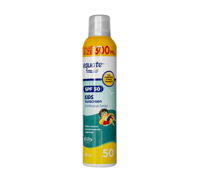 EQUATE Kids SPF50 Spray (1 x 300ml)