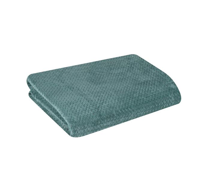 HOME LIVING 150 cm x 200 cm Chevron Flannel Throw Blue Mist