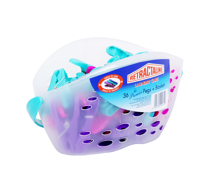 RETRACTALINE 36 Pegs Pegs In Basket