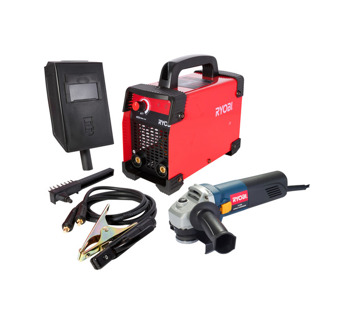 RYOBI 850 W Metal Arc Inverter Welder and Angle Grinder Kit