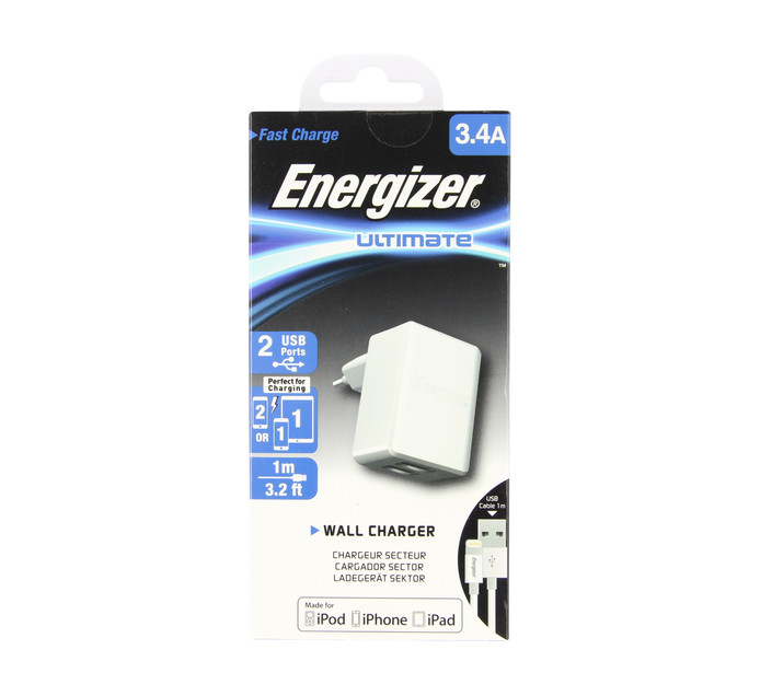 ENERGIZER Apple Lightning 3.4AMP Wall Charger