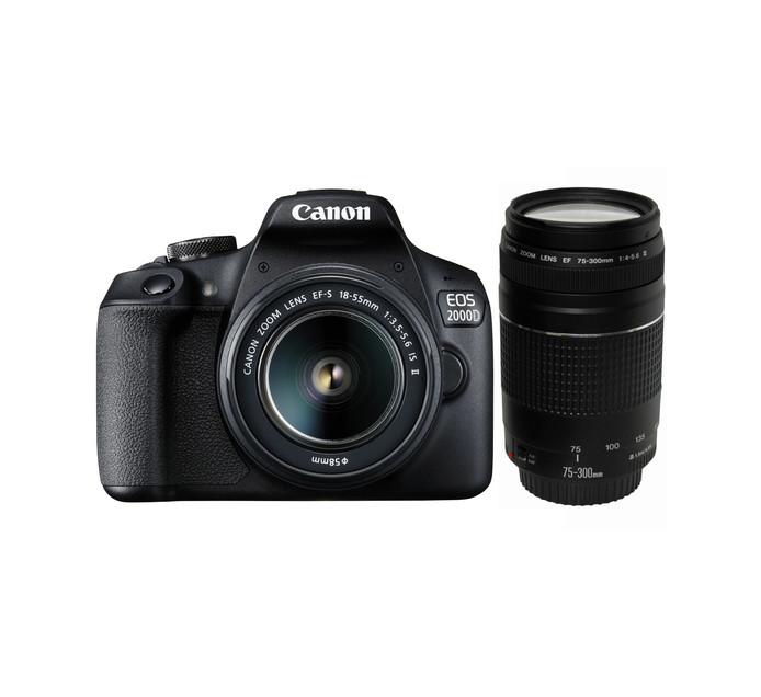 CANON EOS 2000D Twin Lens Camera Bundle