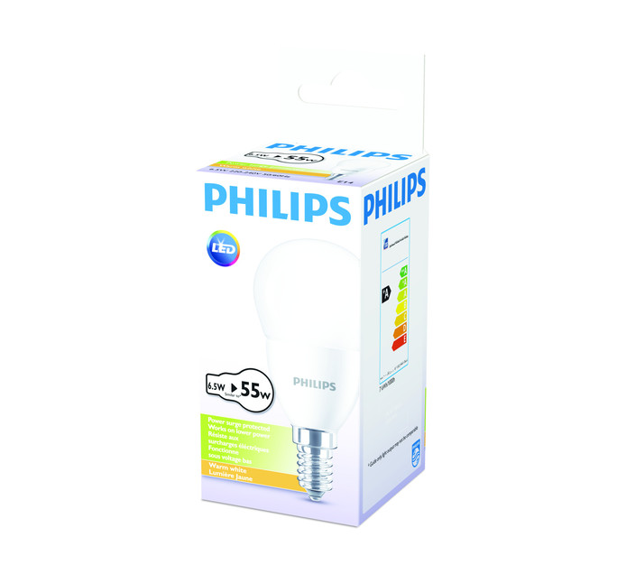PHILIPS LED 6.5W GOLFBALL SES WW