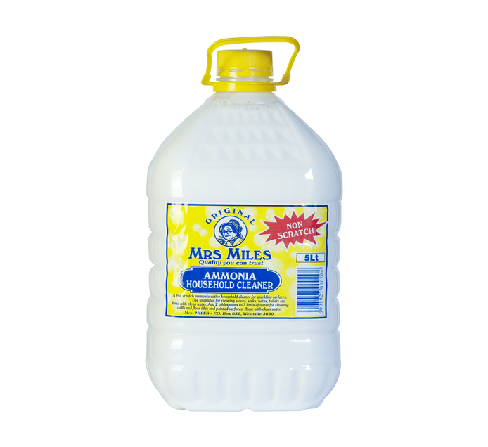 MRS MILES Ammonia Household Cleaner (1  x 5L)