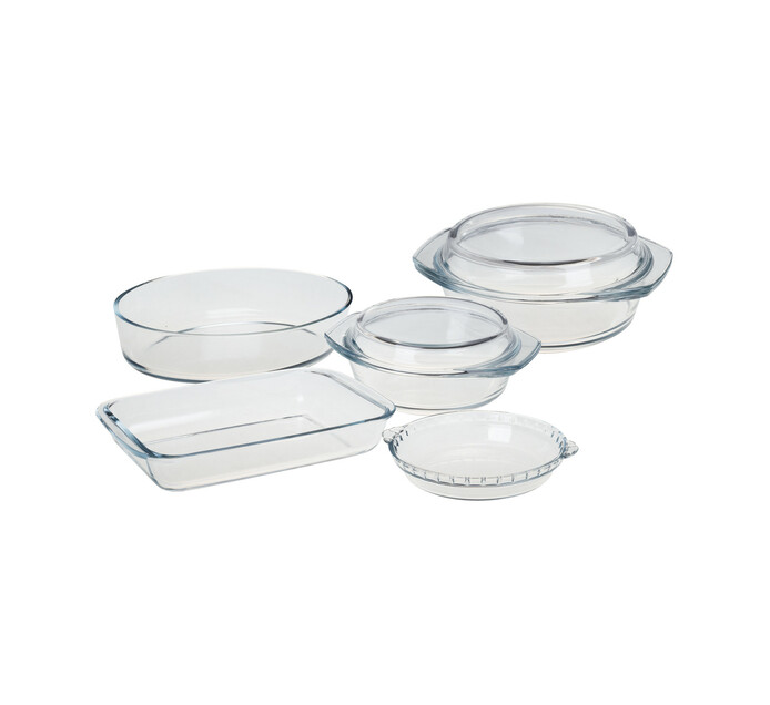 PRIMARIES 7-Piece Glass Ovenware