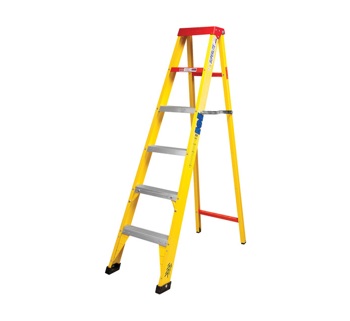 FIBREGLASS 6-STEP LADDER