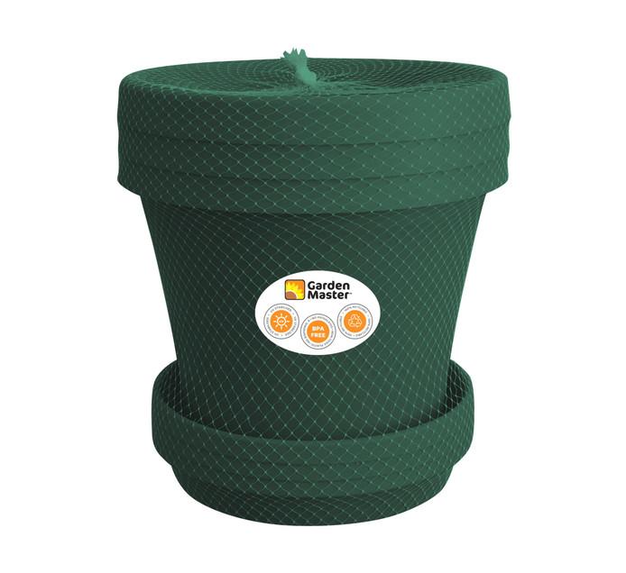 GARDENMASTER 20 cm Super Plant Pot and Saucer Set 3 Piece Green