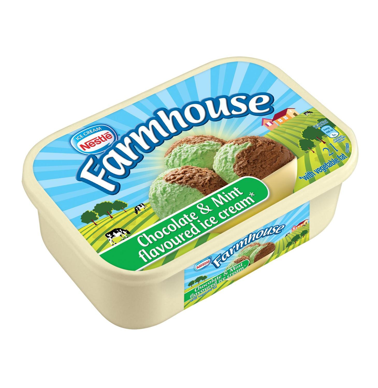 FARMHOUSE Ice Cream Vanilla Choc And Caramel (1 x 2L)